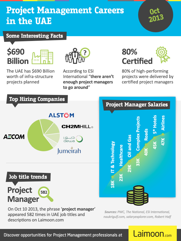 Project management infograph